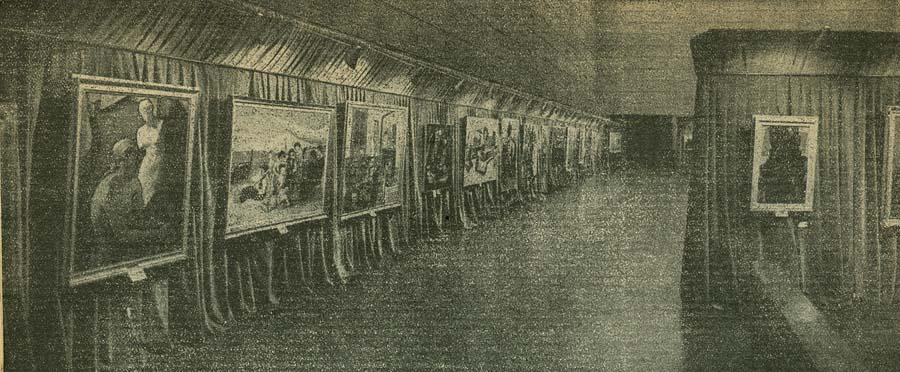 "Fotografia della mostra del 1953 pubblicata sulla rivista ""Umana"""